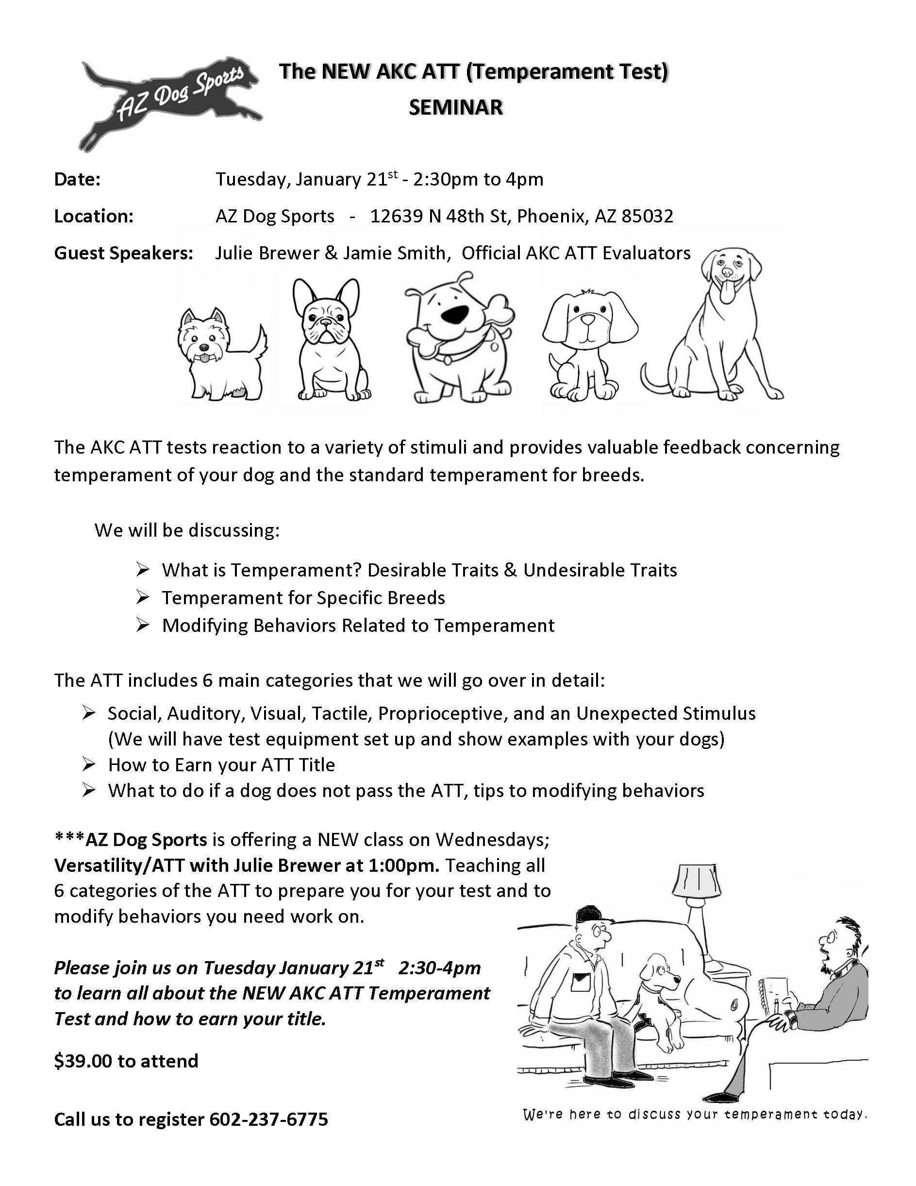 AKC ATT, temperament test, julie brewer, az dog sports, dog training
